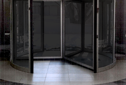 automatic-revolving-door